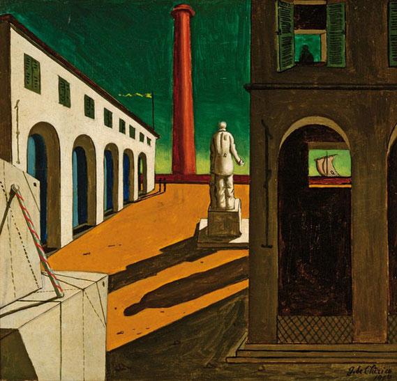 """Giorgio de Chirico, """"L'enigma della partenza"""" (1914)"""