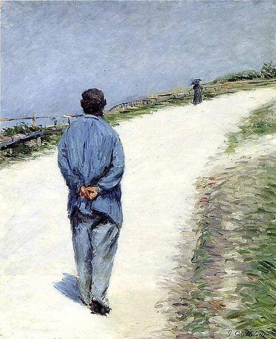 """G. Caillebotte, """"Uomo che porta una camicia"""" (1884)"""