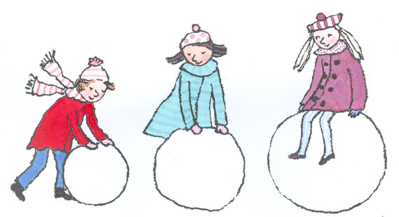 Lola Renn Illustration Schneeball snow ball