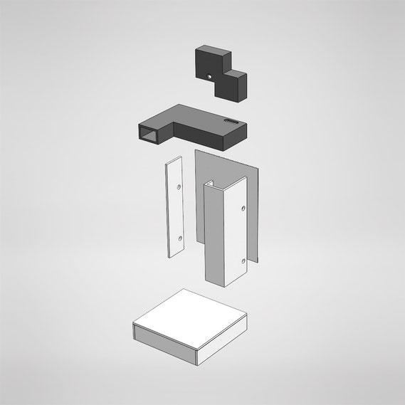 Erstellung eines CAD Modells in Solid Works, als Grundlage für die Fertigung in einer Tischlerei.