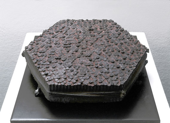 Face - roots <No.K-52>  / 1991 / bronze / H.10x35x30cm
