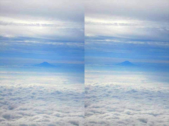 """日本の自然美""""富士山"""" 寄り目で見てね"""