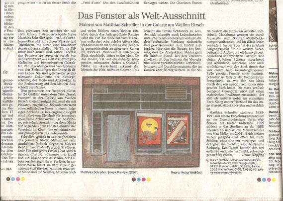 Dresdner Neueste Nachrichten vom 15.  Oktober 2007