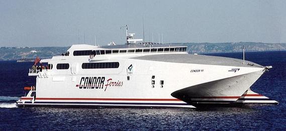 Condor 11 at sea.