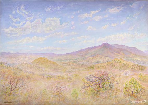 Amud Uwe Millies (1932-2008): Landschaft in Mexico, 1994