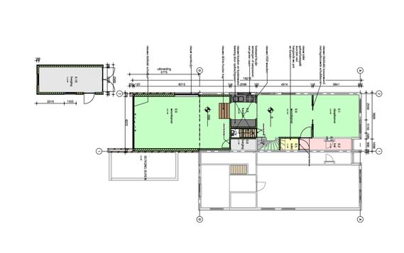 ontwerp uitbreiding woning met keuken - tuinkamer -  berging - fam. Van Essen