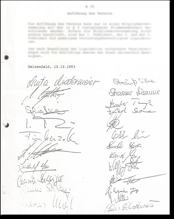 original Satzung vom 15.10.1993