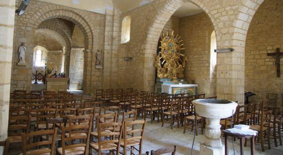 interieur de l'église Saint Agapit