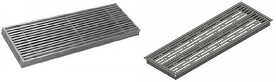 Supply and return grille for underfloor air distribution