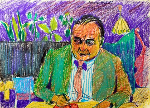 Bettina Heinen-Ayech (1937-2020): Erwin Bowien beim Zeichnen in Kopenhagen, 1955