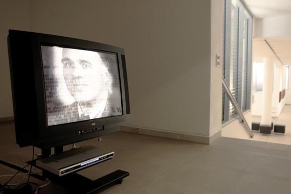 """Retrospektive von Erwin Bowien im Kunstmuseum Solingen im Jahr 2014: Präsentation im Medienraum des Museums der Dokumentation über Erwin Bowien von Georg Bayerle: """"Die Kunst der Erinnerung"""", 2010"""
