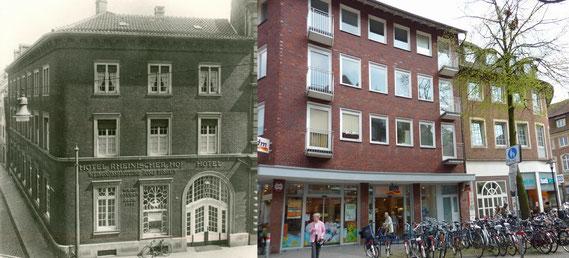 Der frühere Rheinische Hof und sein Nachkriegsbau zwischen Salzstraße und Altem Steinweg