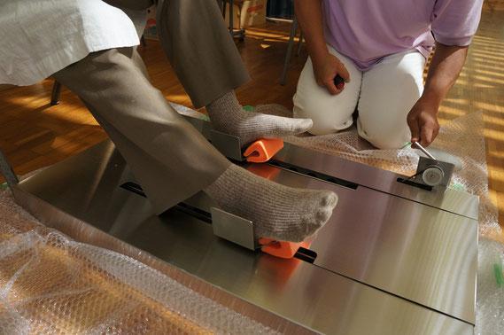 変形性膝関節症リハビリ装置 原理試作機