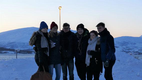 Johanna, Friederike, Johannes, Stephan, Agnes und Hannes in Tromsö