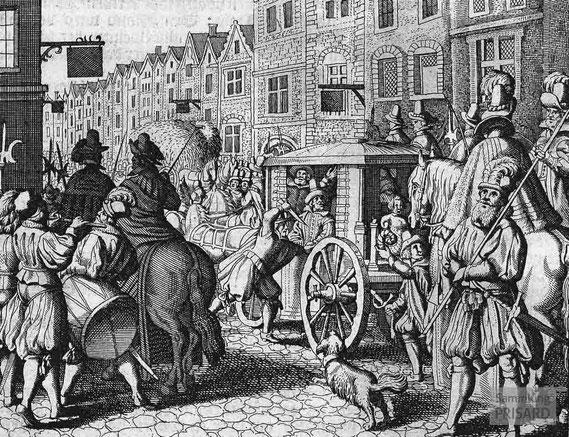 IMA.17.002 Ermordung von Heinrich IV. durch François Ravaillac (Kupferstich, um 1660) / © Sammlung PRISARD