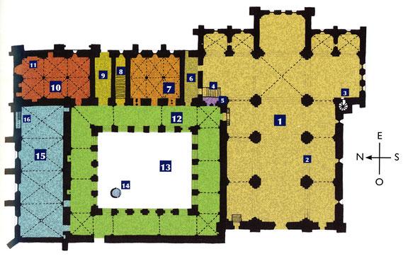 13 - La Roque d'Anthéron - Plan de l'abbaye de Silvacane - France