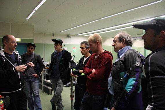 Christof Carigiet mit den Schützen von Herbriggen KT Wallis zum Thema Schiessbrillen