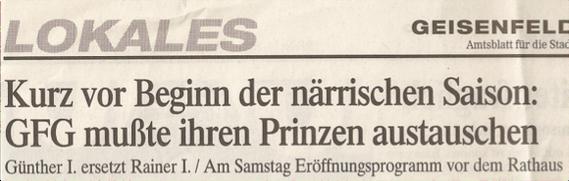 (Quelle: GZ 06./07. Januar 1999)