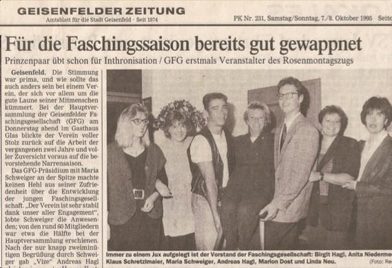 (Quelle: GZ 07./08. Oktober 1995)