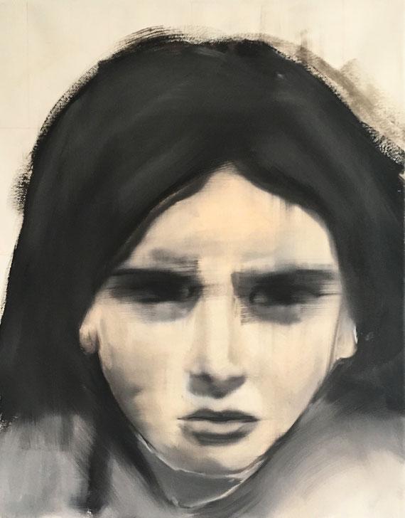 Refugee 4, Oil on Canvas, 50 x 40 cm, 2016