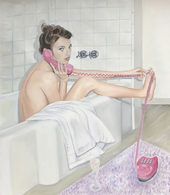 Susanna in the Bath/One, Oil on Canvas, 175 x 150cm, 2018