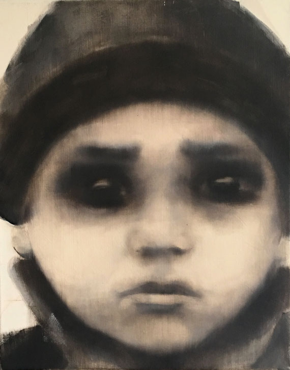 Refugee 1, Oil on Canvas, 50 x 40 cm, 2016