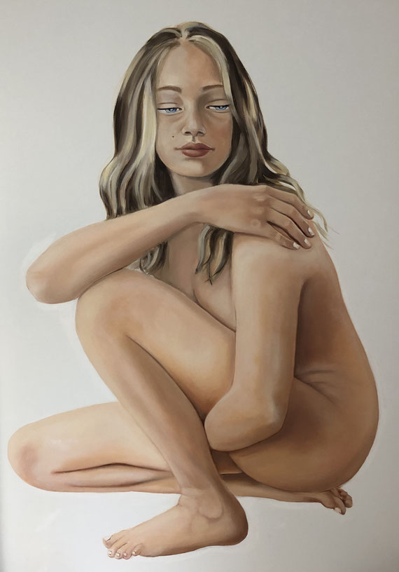 Mara, Oil on Canvas, 120 x 100 cm, 2019