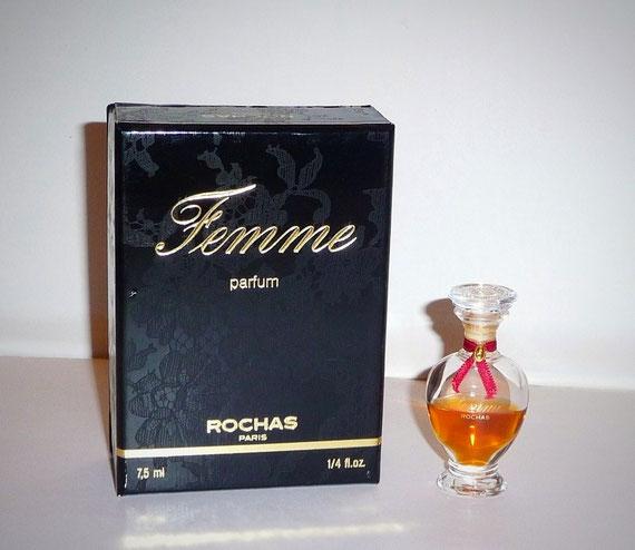 FEMME - PARFUM 7,5 ML - AMPHORE SCELLEE - SERIGRAPHIE DOREE