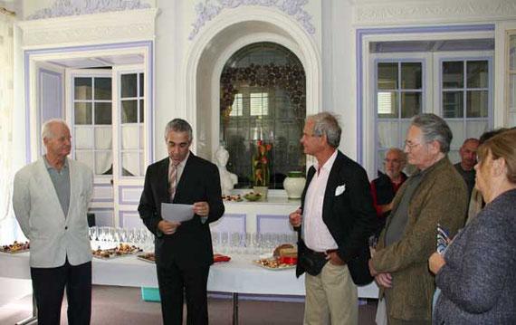 Les artistes conviés à l'apéritif d'honneur à l'Hôtel de ville de Saint-Léonard-de-Noblat- Dimanche 12 septembre 2010