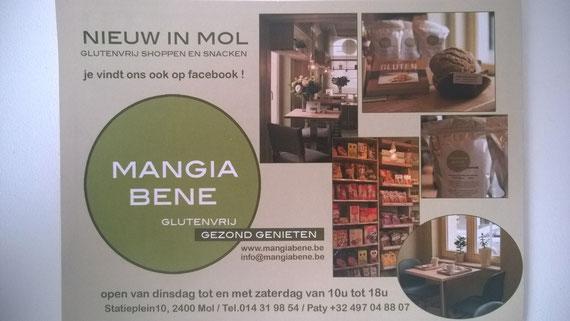 Opendag bij Mangia Bene in Mol / België. Winkel met een groot glutenvrij productaanbod. En ook is er plaats voor een kopje koffie/thee en (glutenvrije) lunch.