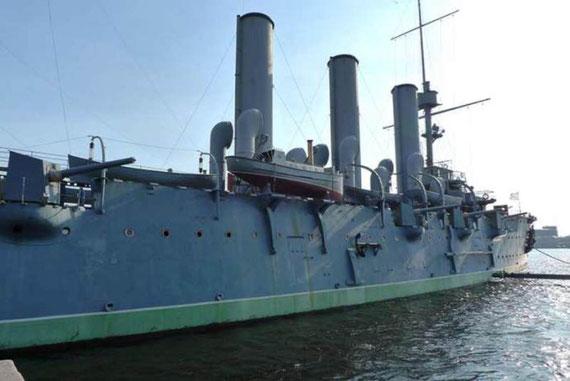 Panserkrydseren 'Aurora' ( i dag et revolutions-museum )