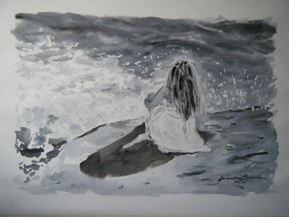 """"""" Merche & el mar """" ( Aguada )"""
