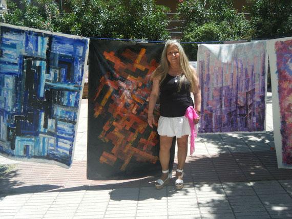 Aniversario de arte en la calle 2013. Pinturas de félix.