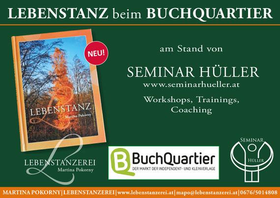 Lebenstanz beim BuchQuartier am Stand von Seminar Hüller