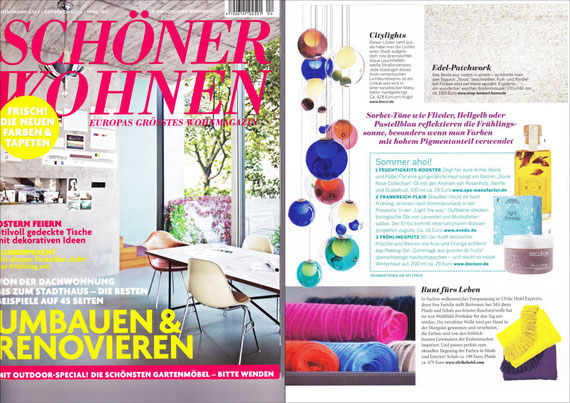 SCHÖNER WOHNEN April 2012 - DUNE ROSE COLLECTION: Massage&BathOil