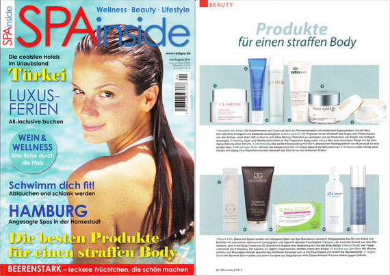 SPA inside Juli/August 2012 - INDULGENCE COLLECTION**Pure Aloe Gel & Almond, Coco & Pomegranate