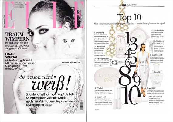 ELLE April 2012  -  INDULGENCE COLLECTION  Bath Cream Almond Lemongras Coco