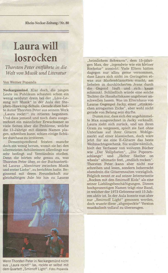 Lesung am 30.03.2011 an der SHS Neckargemünd