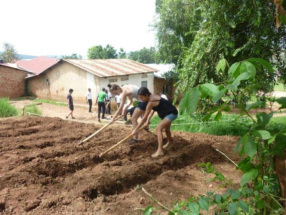 Anlegung eines Schulgartens