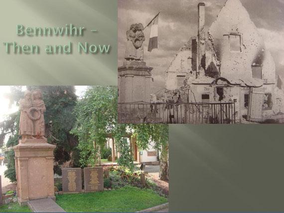 """The statue known as """"Monument aux morts dit Monument de la Fidélité à Bennwihr"""" today"""