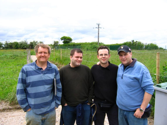 Gary Stern, may friends Pat McDonnell, Dani and myself in 2006 (left to right)