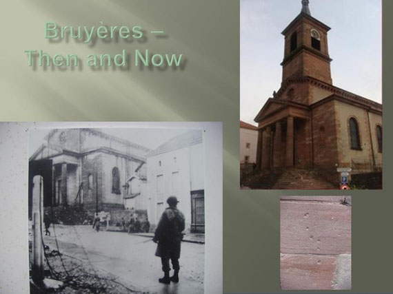 Bruyères Church - Then and Now
