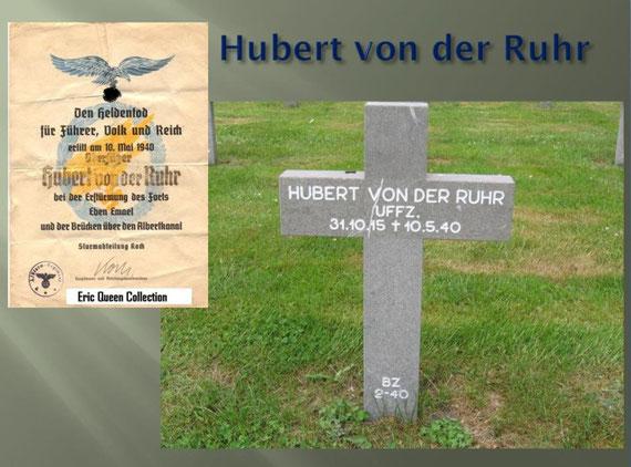 Hubert von der Ruhr grave site at Ysselsteyn