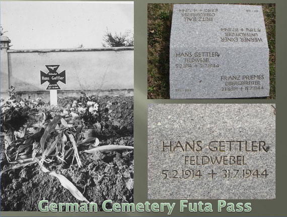 Hans Gettler, was most likely buried at Cervi before he was buried at Futa