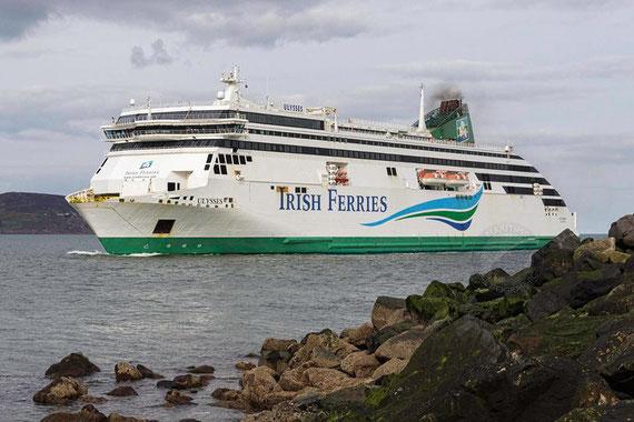 Ulysses arriving in Dublin inbound.