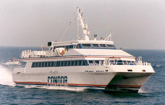 Condor 8 at sea.