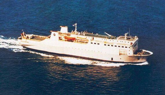 Prince de Bretagne at sea.