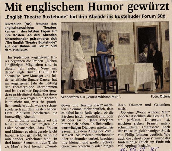 Buxtehuder Tageblatt, 10.05.2004