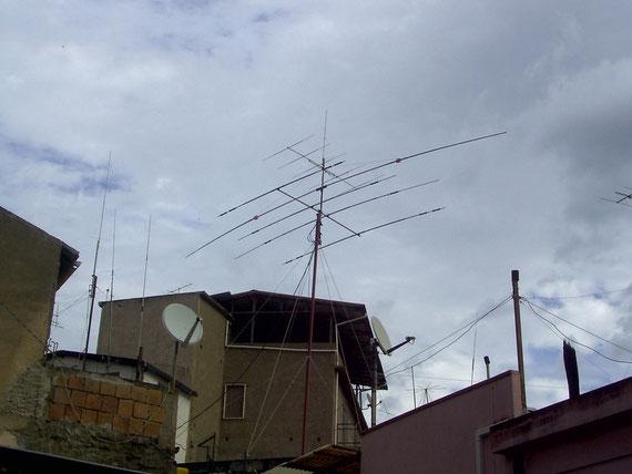 Echo Antenne DHF6-Dip.rotativo 40m lungh.16,50m (Made IZ8GGE-IK8TGH) Diret.5 El.50mhz.Verticale V/U