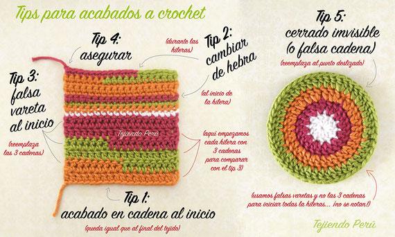 5 tips para tejer mejor acabado cuando se teje a crochet!